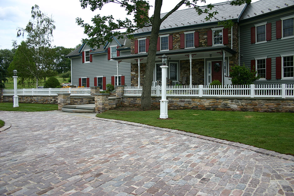 Bucks County Country Home Cobblestone Parking Court